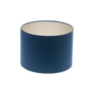 Regal Blue Drum Lampshade Champagne Inner