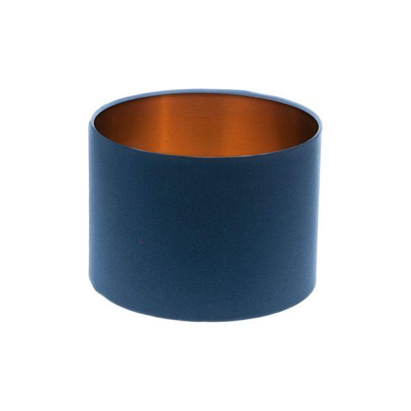 Regal Blue Drum Lampshade Copper Inner