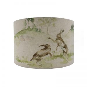Voyage Boxing Hares Drum Lampshade