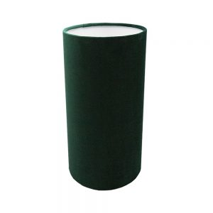 Emerald Green Velvet Tall Drum Lampshade