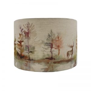 Voyage Wilderness Plum Stag Drum Lampshade
