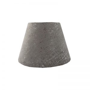 Zink Grey Velvet Empire Lampshade