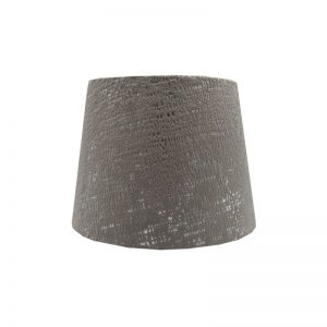 Zink Grey Velvet French Drum Lampshade