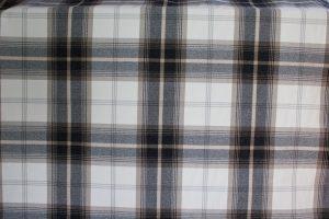 Balmoral Charcoal Tartan Fabric