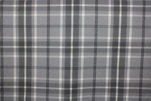 Balmoral Grey Tartan Fabric