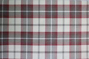Balmoral Maroon Tartan Fabric