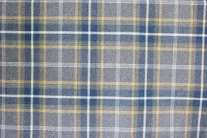 Balmoral Navy Blue Tartan Fabric