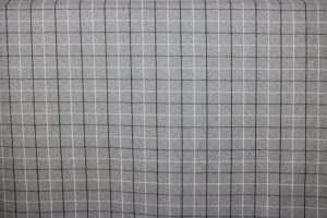 Bamburgh Dove Grey Tartan Fabric