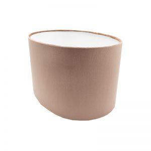 Blush Pink Velvet Oval Lampshade
