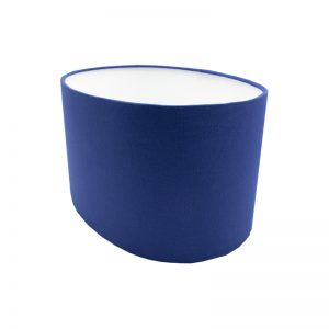 Bright Blue Oval Lampshade