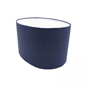Bright Navy Blue Oval Lampshade