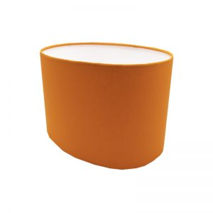 Bright Orange Oval Lampshade
