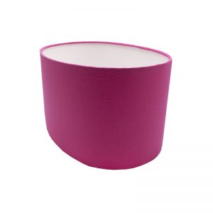 Sorbet Bright Pink Oval Lampshade