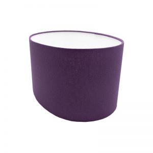 Bright Purple Oval Lampshade