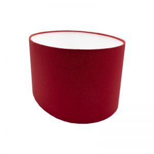 Bright Red Oval Lampshade