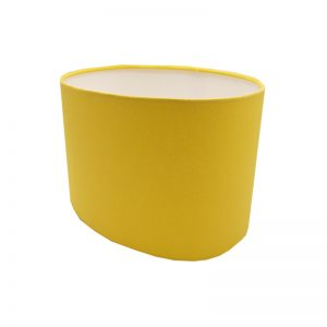 Bright Yellow Oval Lampshade