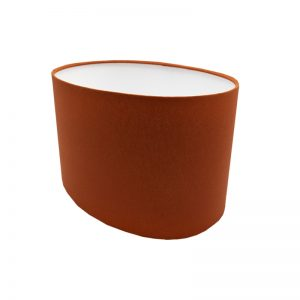 Burnt Orange Oval Lampshade