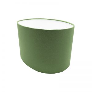 Dark Green Oval Lampshade