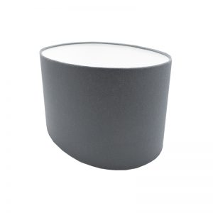 Dark Grey Oval Lampshade