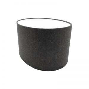 Dark Grey Wool Oval Lampshade