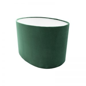 Emerald Green Velvet Oval Lampshade
