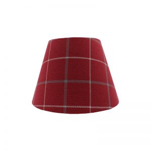 Exford Cherry Tartan Empire Lampshade