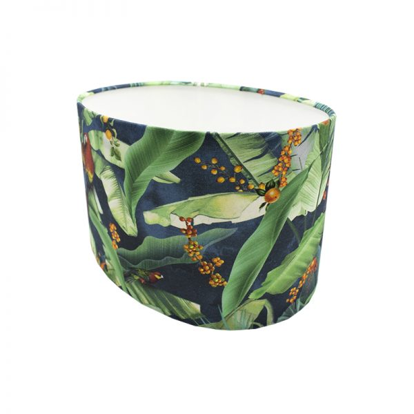 Jungle Parrot Oval Lampshade