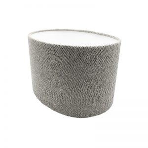 Light Grey Herringbone Oval Lampshade