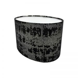 Mercury Black Velvet Oval Lampshade