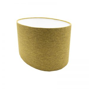 Mustard Yellow Herringbone Oval Lampshade