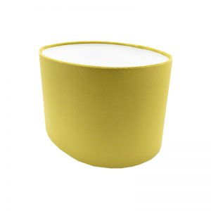 Mustard Yellow Velvet Oval Lampshade