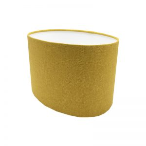 Mustard Yellow Wool Oval Lampshade