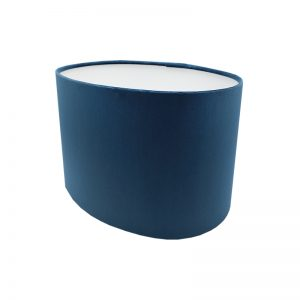 Navy Blue Velvet Oval Lampshade