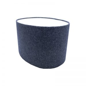 Navy Blue Wool Oval Lampshade