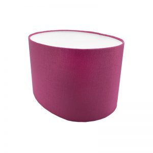 Bright Pink Satin Oval Lampshade