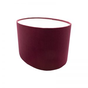 Red Velvet Oval Lampshade