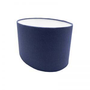 Regal Blue Oval Lampshade
