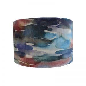 Azima Cobalt Velvet Drum Lampshade
