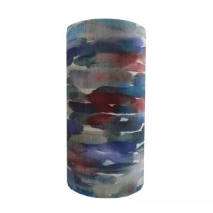 Azima Cobalt Velvet Tall Drum Lampshade