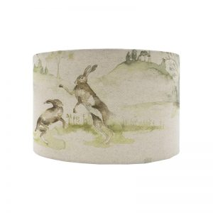 Voyage Boxing Hares Oval Lampshade
