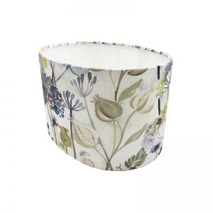 Voyage Hedgerow Blue Oval Lampshade