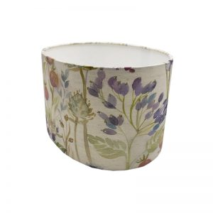 Voyage Hedgerow Pink Oval Lampshade