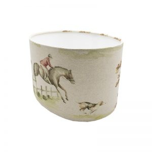 Voyage Horse and Hound Oval Lampshade