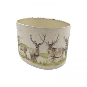 Voyage Moorland Stag Oval Lampshade