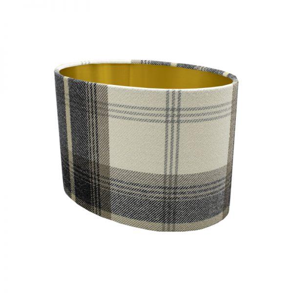 Balmoral Charcoal Tartan Oval Lampshade