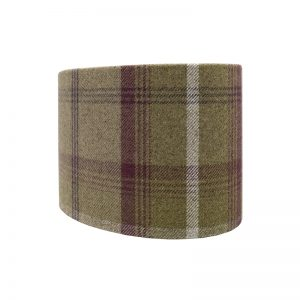 Balmoral Heather Tartan Oval Lampshade