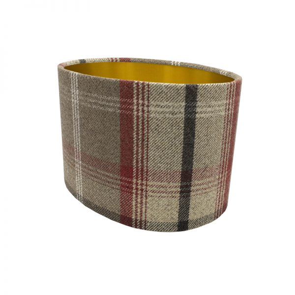 Balmoral Rosso Tartan Oval Lampshade