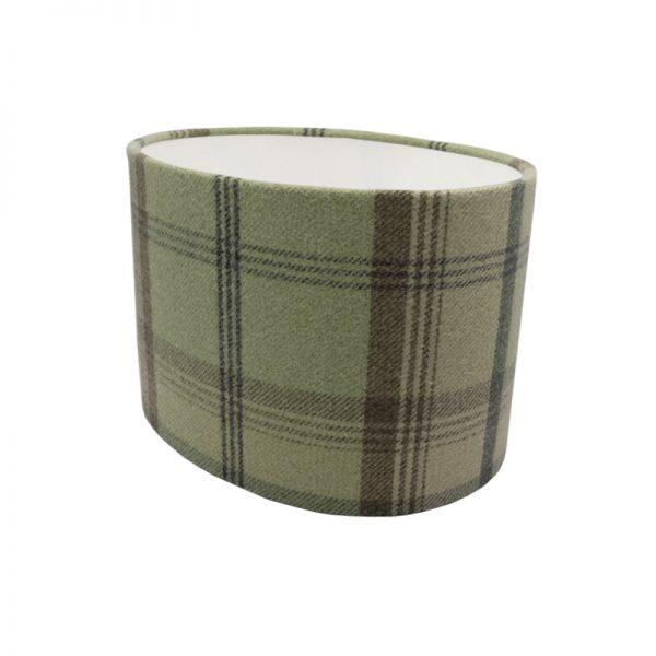 Balmoral Sage Green Tartan Oval Lampshade
