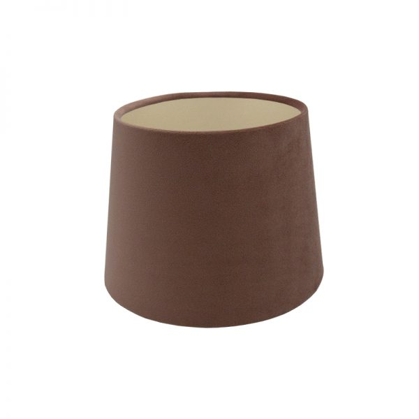 Blush Pink Velvet French Drum Lampshade