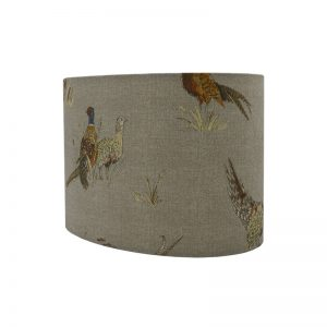 Country Pheasant Oval Lampshade